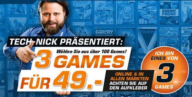 3 Games für nur 49€ bei Saturn   über 100 Spiele verfügbar Update! jetzt auch bei Amazon!