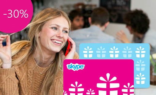 Skype Guthaben kaufen und 30% sparen