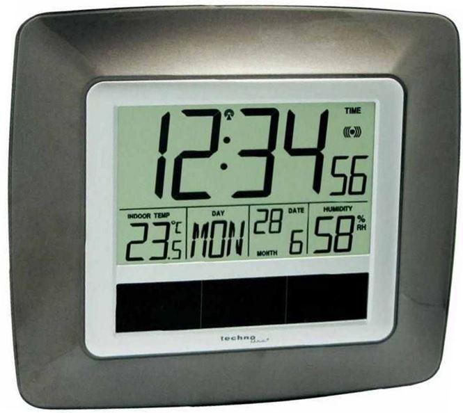TechnoLine WS8112   Solar Funkuhr mit Raumtemperatur und Luftfeuchtigkeits Anzeige für 9,99€