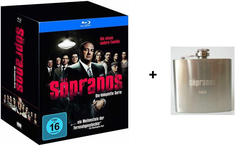 Sopranos Tipp! Sopranos   Die komplette Serie (inkl. Flachmann) Blu ray Limited Edition ab heute für 114,99€