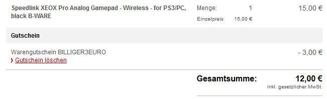 Speedlink XEOX Pro Analog Wireless Gamepad für 12€