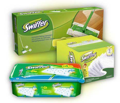 Swiffer Systemstarter   Bodenstab + 2 Tücher + 36 Wischtücher Trocken + 24 Wet Wischtücher für 18,90€