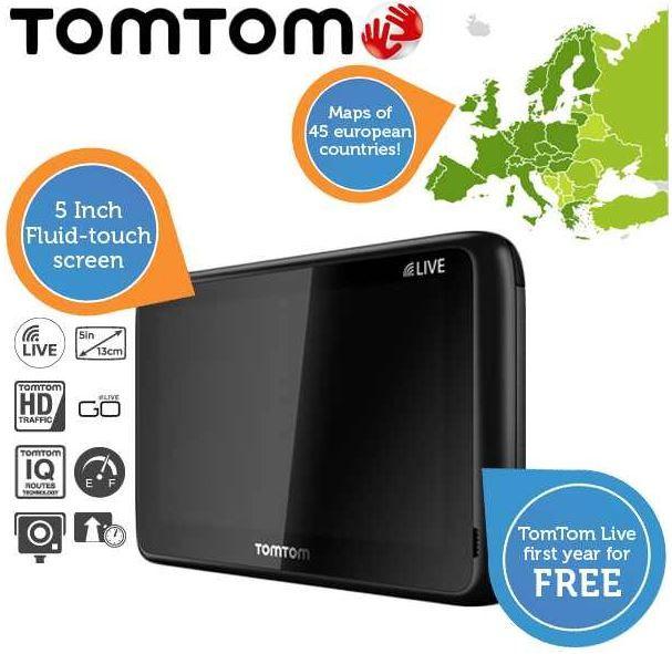 TomTom1 TomTom Go 1005   LiveEuropa mit Armaturenbretthalterung (Refurbished) für 135,90€