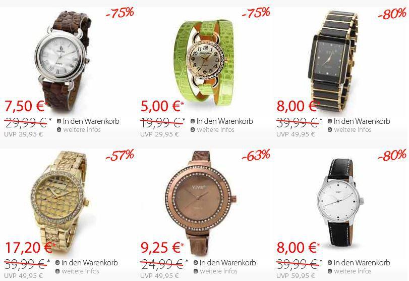 Uhren Silvity.de   Uhren mit bis zu 80% Rabatt und Colliers mit 70% im Sale + Gutscheine
