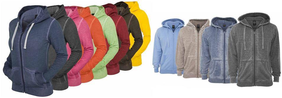 URBAN CLASSICS Spray Dye   Zipper und Hoodies für Damen und Herren je 17,90€   Update!