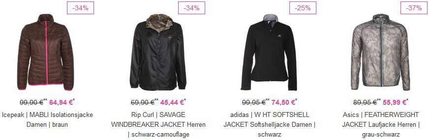 Vaola Adidas Sale Vaola Sport und Fashion Sales mit bis zu 70% Rabatt + bis 20% Extra Rabatt   günstige Jacken etc. ...