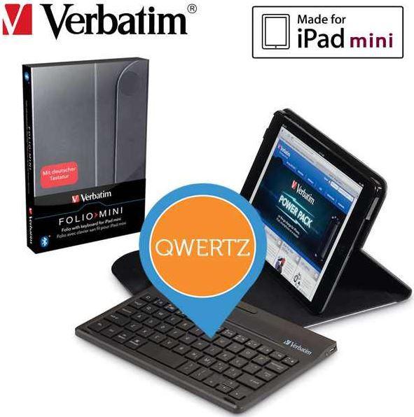 Verbatim Verbatim   Apple iPad Mini Schutzhülle mit Bluetooth Tastatur für 25,90€