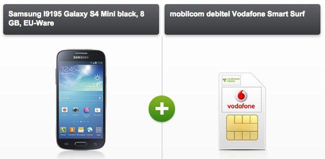 mobilcom debitel Vodafone oder o2 Smart Surf + Smartphone ab 10,03€ monatlich