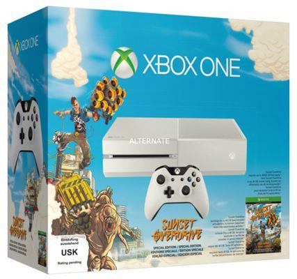 Xbox One weiß Microsoft Xbox One 500GB (weiß) + Sunset Overdrive für 331€
