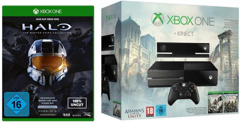 Xbox one Xbox One inkl. Halo   The Master Chief Collection & FIFA 15 für 369€ und mehr Amazon Konsolen Angebote