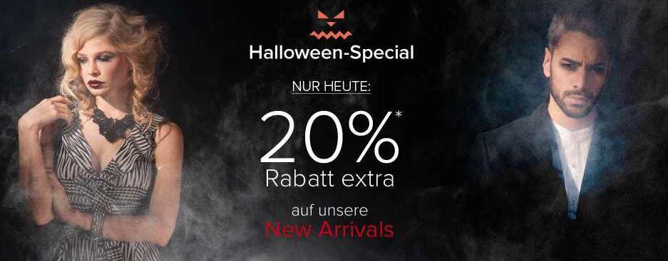 dress for less mit 20% Halloween Rabatt auf ausgewählte Kleidung bis Mitternacht