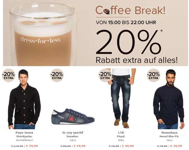 dress for less mit 20% Extra Rabatt auf alles bis 22Uhr!