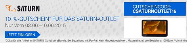 Saturn Outlet Angebote bei eBay + 10% Extra Rabatt   Update