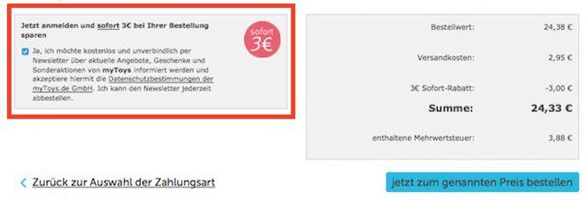 myToys Warenkorb 20% Rabatt auf Hasbro Spiele bei myToys + 10€ Gutschein + 3€ Newsletter Rabatt