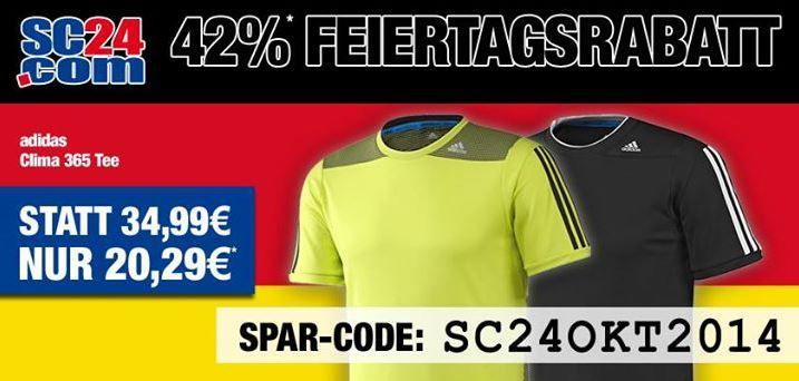 sc24 Sale SC24.com   heute 42% Feiertages Rabatt z. B. Nike, Adidas, Puma und mehr