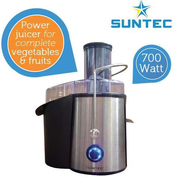 Suntec JUI 9738   Power Frucht Entsafter aus Edelstahl für 29,95€   Update