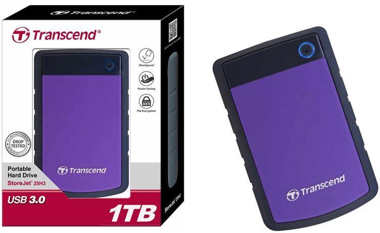 1TB Festplatte Transcend StoreJet H3P   1TB externe Festplatte für 57,90€