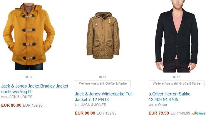 Amazon Fashion1 Jack & Jones + S.Oliver im Sale mit Rabatten bis zu 80% @Amazon   Update