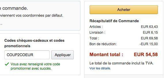 15€ Rabatt auf das Mode Sortiment bei Amazon Frankreich ohne MBW