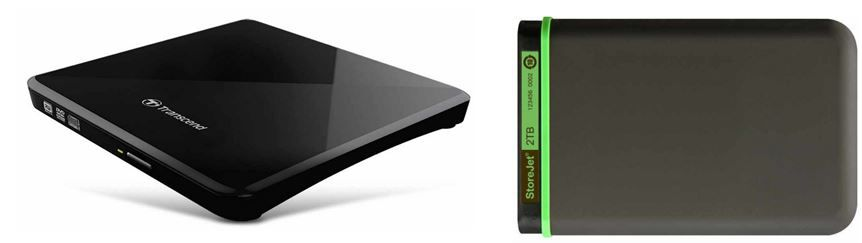 Amazon Speicher Transcend   2TB StoreJet M3 Festplatte für 94,90€   Transcend TS8XDVDS K externer Slim DVD 8x Brenner für 33,90€