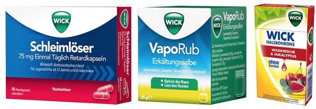 WICK Produkte stark reduziert   z.B. WICK VapoRub für 2,19€ bei apotal