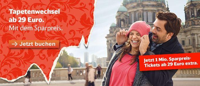 Deutsche Bahn Tickets für 29€ pro Strecke!