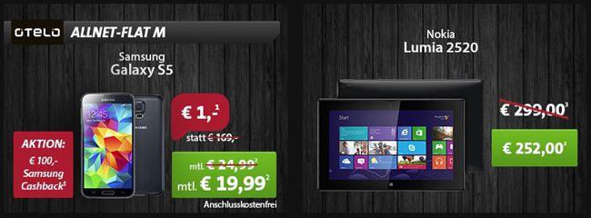 Black Friday Angebote bei Sparhandy   z.B. Nokia Lumia 2520 für 252€