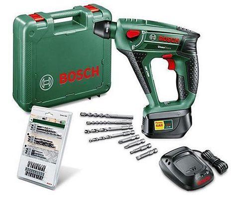 Bosch Uneo Maxx Schlagbohrhammer + 19 tlg. Uneo Zubehör für 129,99€