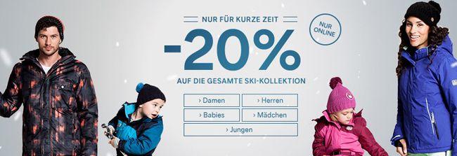 20% Rabatt auf die gesamte C&A Ski Kollektion + weitere 15% Rabatt dank Gutschein