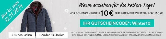 10€ Rabatt auf Jacken, Mäntel und Skijacken bei C&A + kostenlose Lieferung   Update