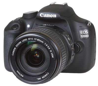 Canon EOS 1200D SLR Digitalkamera (18 MP, APS C CMOS Sensor, Full HD) Kit + 17 85mm Objektiv für ca. 429€