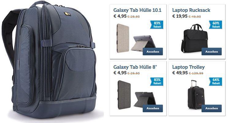 Case Logic SLRC 226 Stahl   Laptop und SLR Rucksack statt 80€ für 40,95€