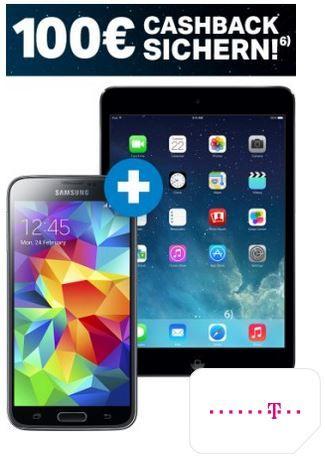 Samsung Galaxy S5 + iPad Mini 2 + Telekom Complete Comfort S  für nur 29,95€ monatl.