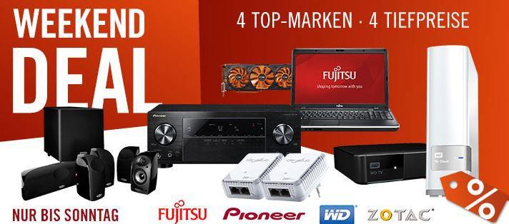 Pioneer VSX 529 Receiver + Polk Audio TL 1600 5.1 Set + devolo Powerline duo Kit statt 799 für 499€ und mehr Cyberport Weekend Deals