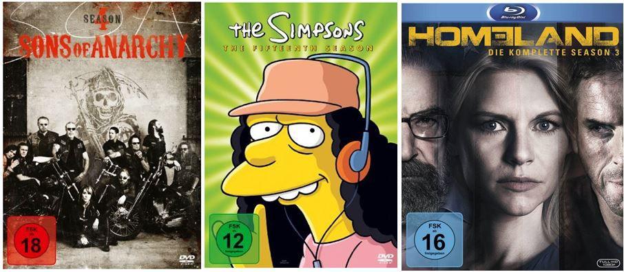 3 TV Serien für 25€ und mehr Amazon DVD und Blu ray Angebote