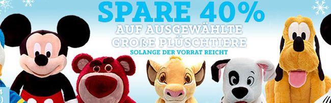 Disney Plüschtiere ab 29,90€ im DisneyStore   ab 50€ versandkostenfrei