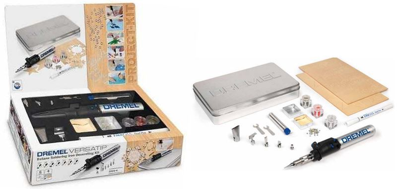 DREMEL G2000 Gaslötkolben Versa Tip Box mit reichlich Zubehör für 38,90€