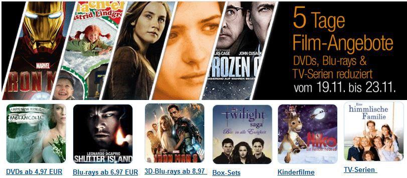 Filme Action Filme, 3D Blu rays ab 8,97€ und mehr bei den 5 Tage Amazon Film Angeboten   Update