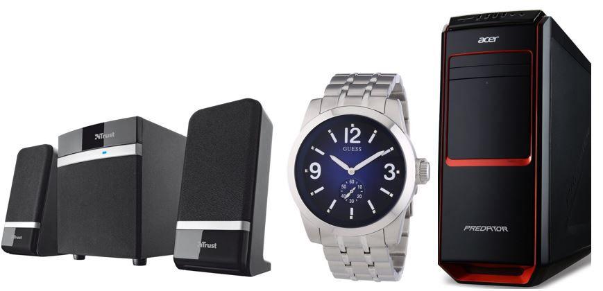 Guess Herren Uhr Trust Raina 2.1 Lautsprechersystem mit Subwoofer   bei den 56 Amazon Blitzangeboten bis 11Uhr