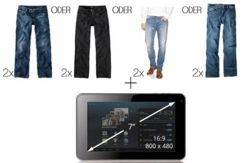 2 HIS Herren Jeans + Archos Arnova 7 Zoll Tablet für 66€