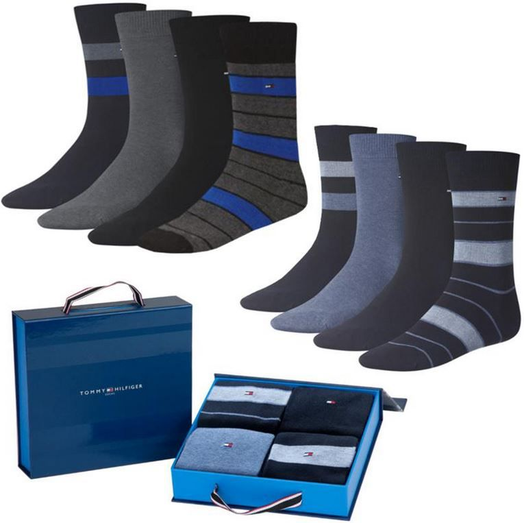 Hilfiger Socken Tommy Hilfiger   4er Pack Herren Socken in Geschenkbox für 17,95€