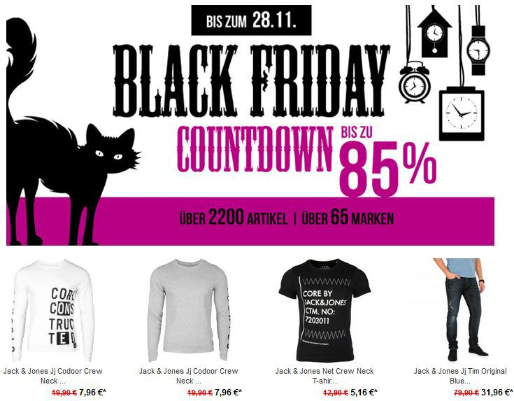 Jack & Jones Net Crew Neck T Shirt ab 5,16€ bei der Black Friday Hoodboyz Aktion   Update!