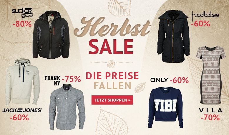 Hoodsale1 Jack&Jones T Shirts ab 5,96€   Herbst Sale mit bis zu 80% Rabatt bei den Hoodboyz