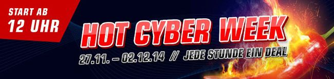 Hot Cyber Week Hot Cyber Week bei Redcoon   jede Stunde 1 Produkt in begrenzter Stückzahl verfügbar