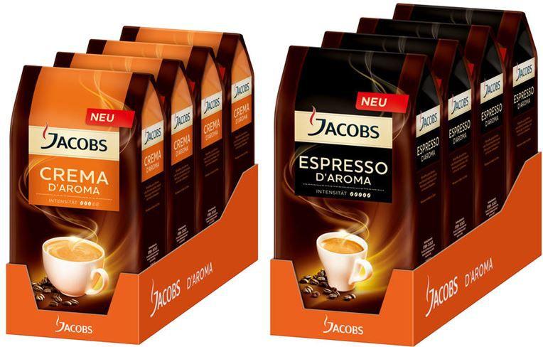 Jacobs Espresso d Aroma oder Jacobs Crema d Aroma   je 4Kg für nur 29,95€   Update!