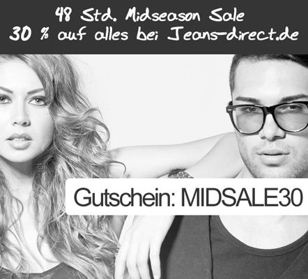 48 Stunden Mid Season Sale bei Jeans Direct + 30% Gutschein auf Alles   Update