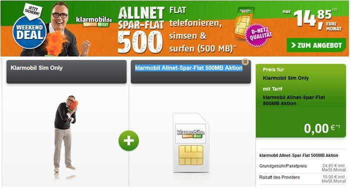 Telekom All Net + SMS Flat + 500MB für nur 14,85€ monatlich