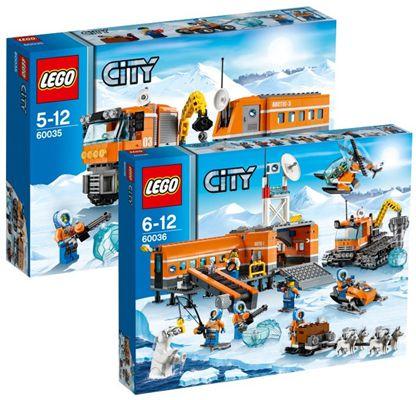 Lego City LEGO City Set Arktis Truck 60035 & Arktis Basislager 60036 für 89,99€