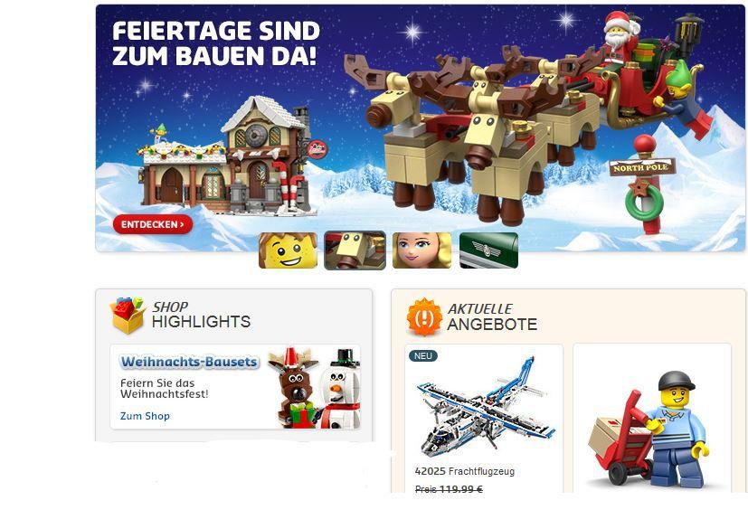 Lego *Hammer* LEGO Artikel mit 50% Rabatt im Online Shop   z.B. Todesstern für nur 210€!!