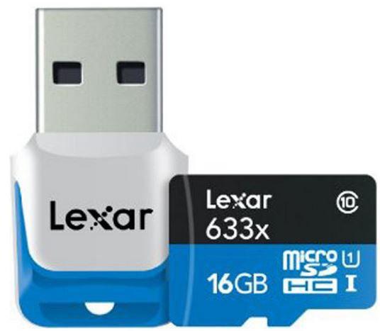 Lexar 16GB microSDHC Class 10 + USB3 Adapter für 12,73€